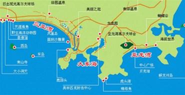 三亚旅游景点全地图